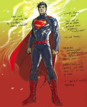 Superman New 52 concept art Jim Lee