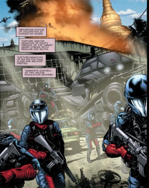 G.I. Joe 9 new Cobra Command interior occupation IDW
