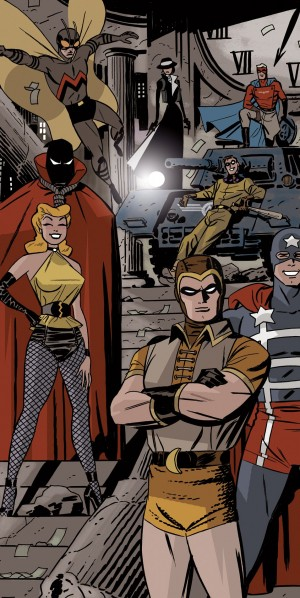 Before Watchmen Minutemen promo art Darwyn Cooke