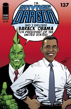 Savage Dragon #137 President Obama Image Comics