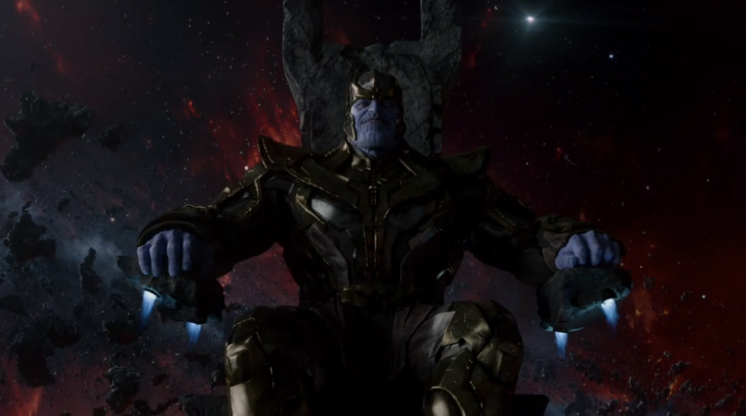 Credit scene from marvel studios guardians of the galaxy movie