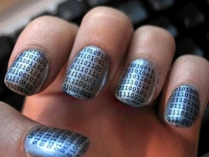 Binary code fingernails