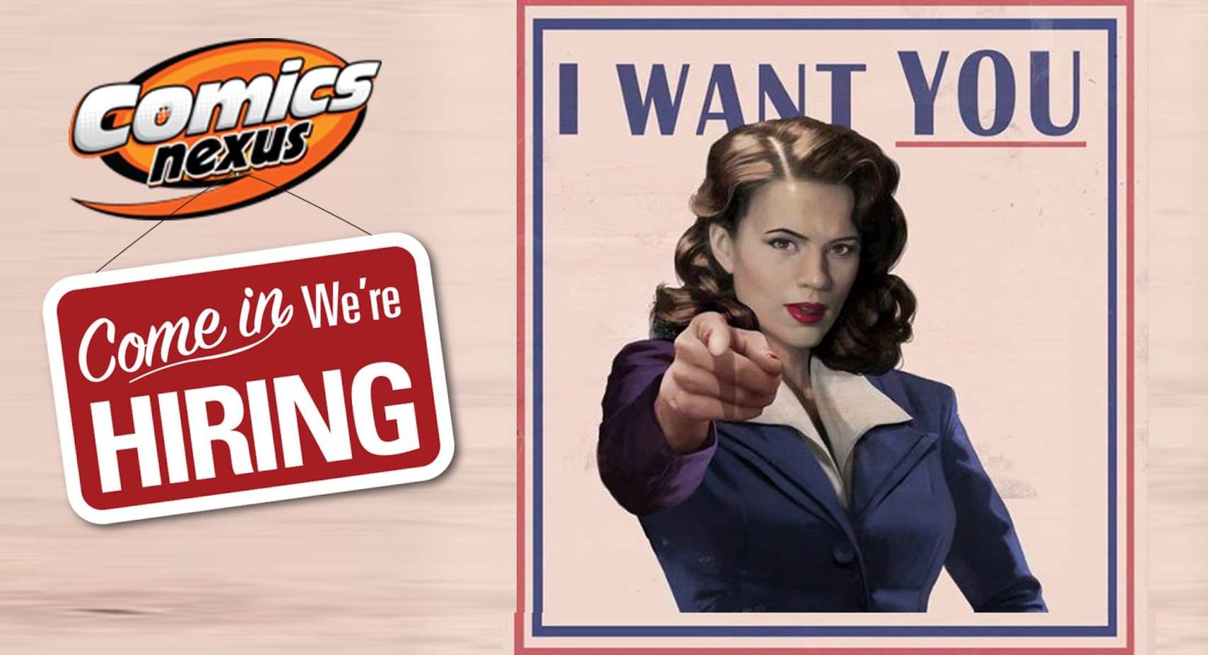 Comix Nexus Is Hiring Wants You Agent Carter Graphic