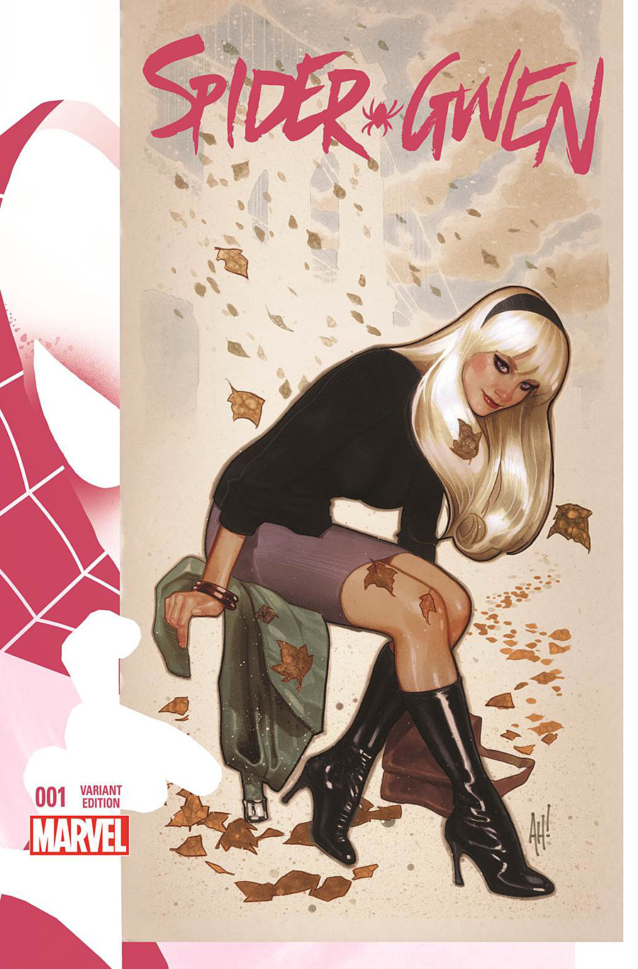 The Women Of Dc Comics Ink In Adam Withers S Dc Comics: Spider-Gwen #1 Adam Hughes Variant Cover