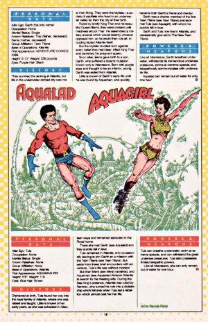 Aqualad and Aquagirl Who's Who in the DCU entry