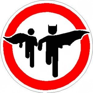 Batman & Robin running sign