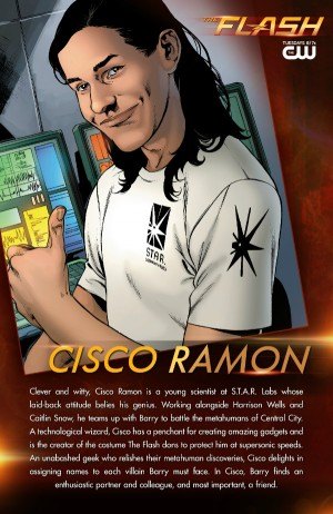 CW The Flash Cisco Ramon bio card