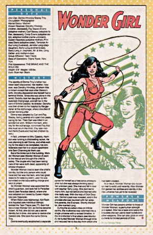 Donna Troy Who's Who in the DCU entry