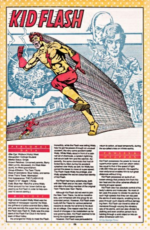Kid Flash Wally West Who's Who in the DC Universe entry