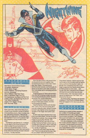 Nightwing DC Who's Who in the DC Universe