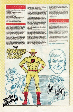 Reverse Flash Who's Who in the DC Universe