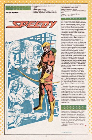 Speedy Who's Who in the DC Universe