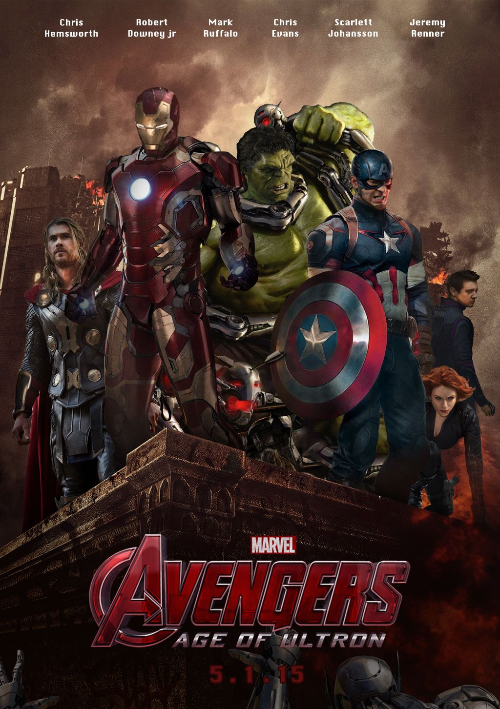 Age of Ultron poster Avengers banner