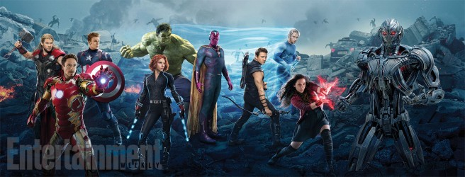 Avengers Age of Ultron interlocking movie poster EW covers 1