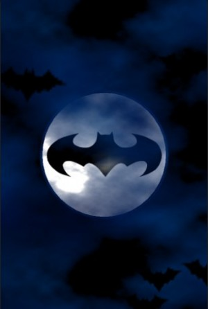 Bat-signal on moon