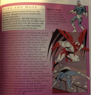 DC Comics encyc bio Hawk and Dove