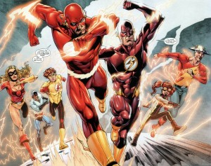 Wally West the Flash and the Speed Force family