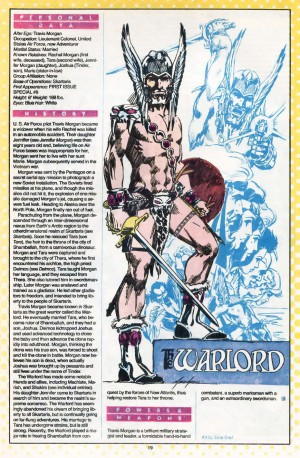 Warlord Who's Who in the DC Universe