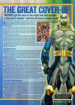 Who's Who in the DC Universe Monarch Wizard mag