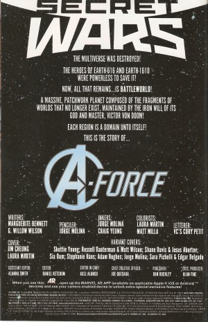 A-FORCE #1 intro
