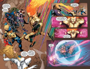 Convergence #8 Spoilers new Waverider Booster Gold