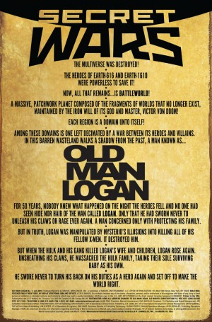 OLD MAN LOGAN #1 intro