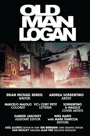 OLD MAN LOGAN #1 title page