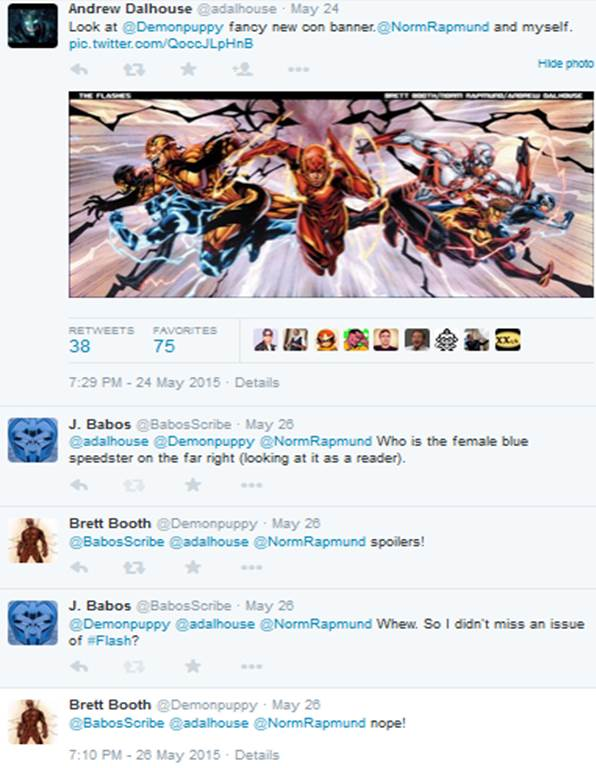 The Flashes twitter chat with Brett Booth