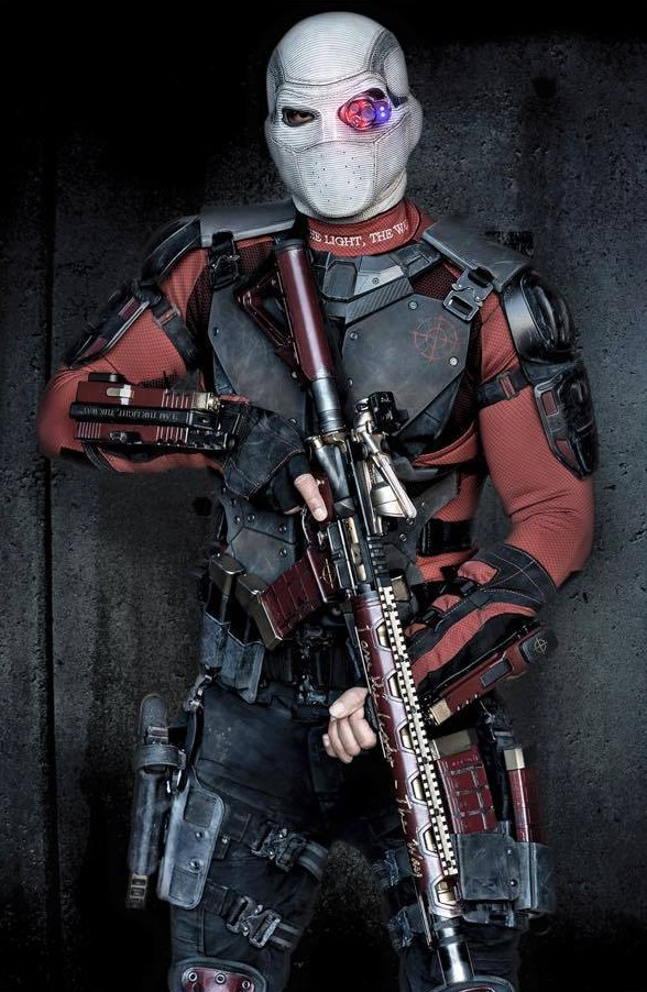 Will Smith as Deadshot with Mask for Suicide Squad movie
