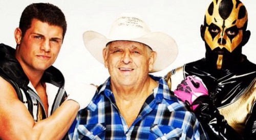Dusty Rhodes and sons Goldust and Stardust 0