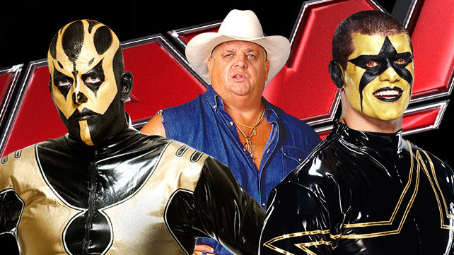 Dusty Rhodes and sons Goldust and Stardust