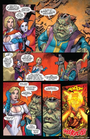 HARLEY QUINN POWER GIRL 1 review spoilers 3