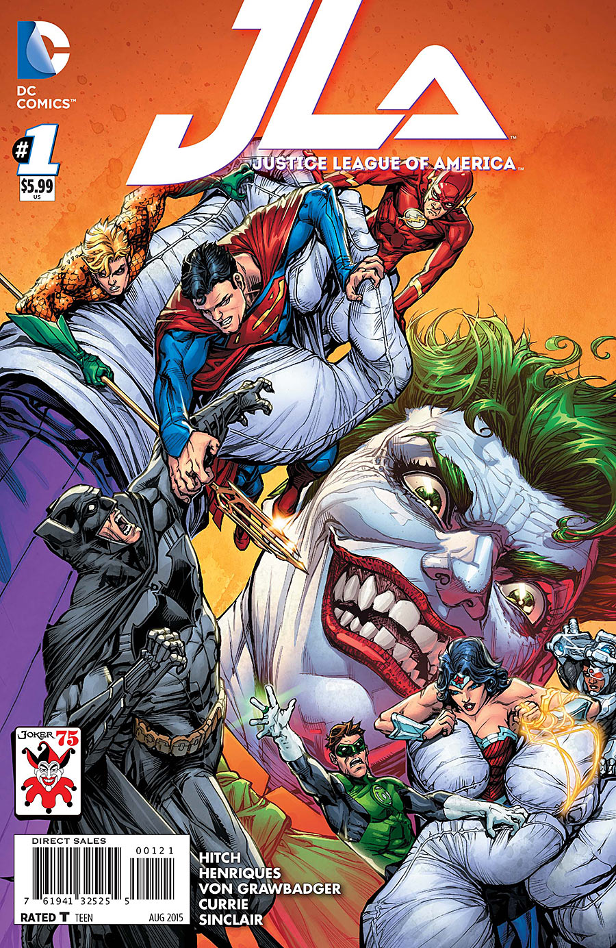 Justice League of America (Vol 2) # 3 Near Mint (NM) 1in10 VARIANT MODN AGE
