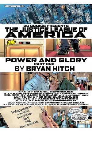 JUSTICE LEAGUE of AMERICA {4th Series} #1 title page
