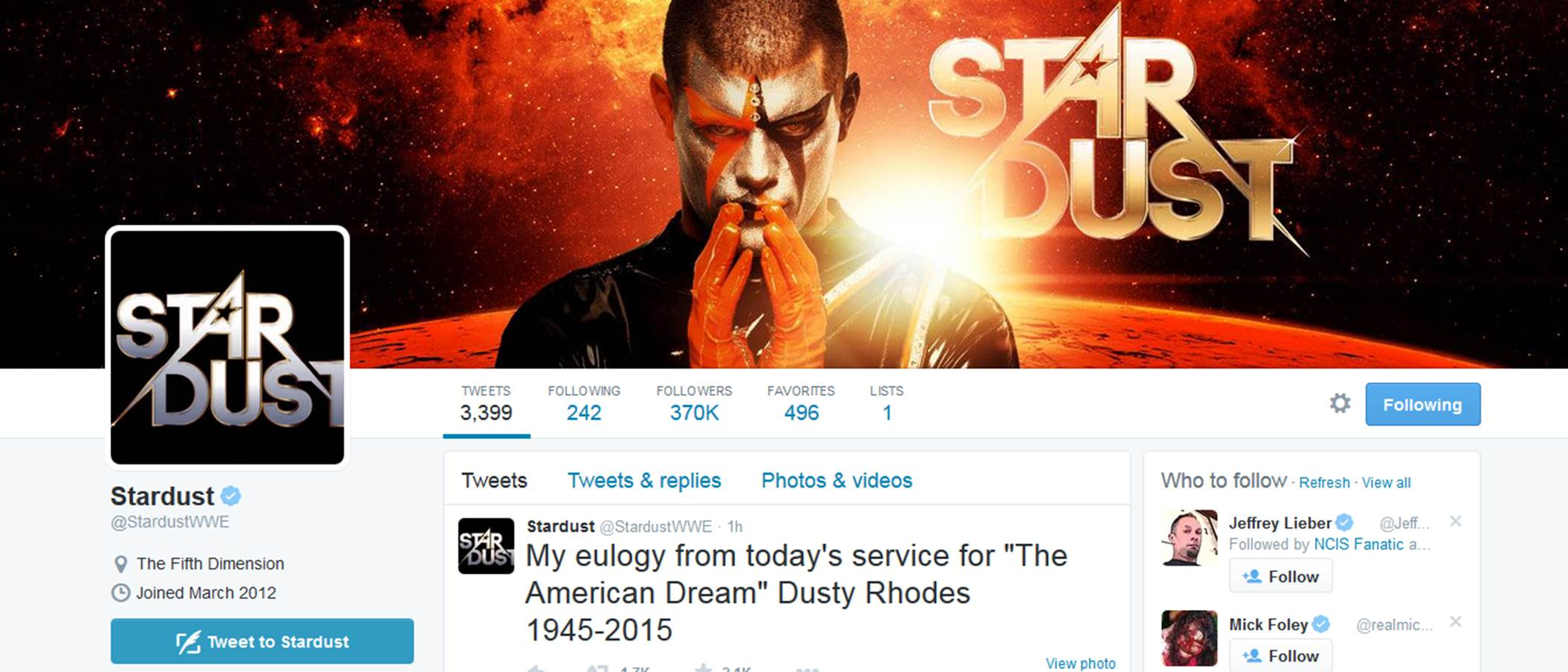 Stardust Cody Rhodes Runnels American Dream Dusty Rhodes Funeral Eulogy 1