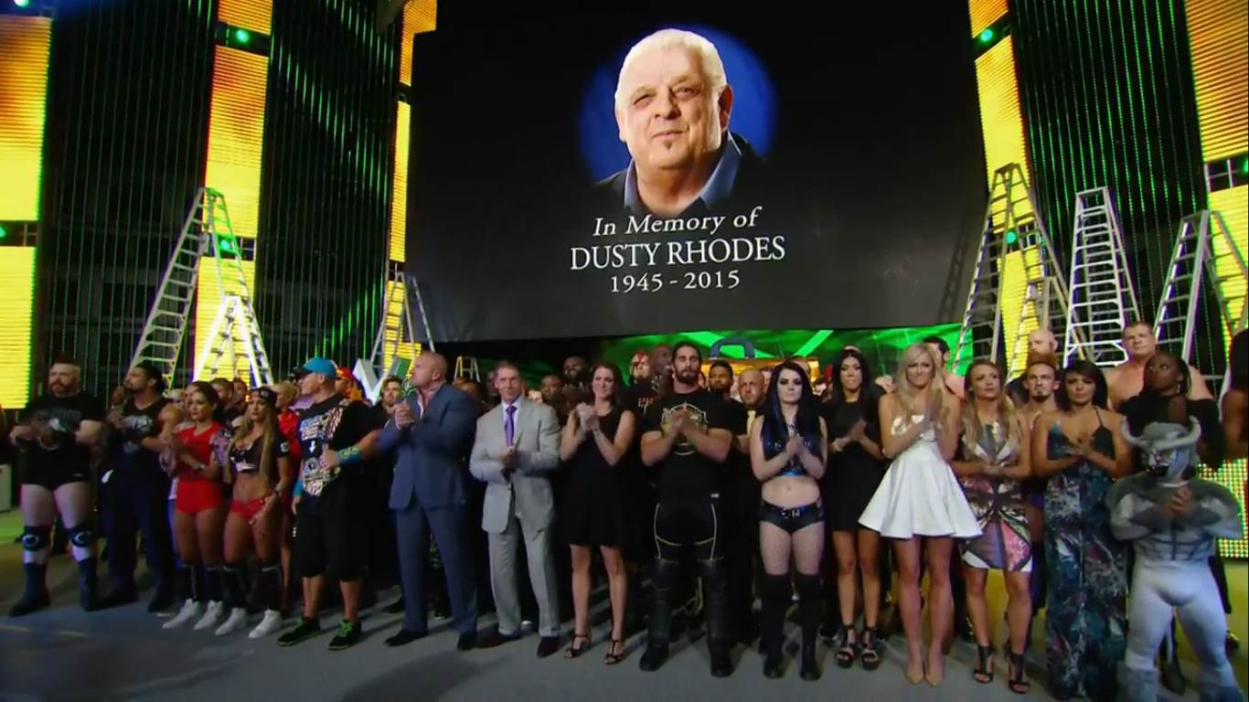 Tribute to Dusty Rhodes at Money in the Bank 2015 B