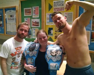 Gregory Iron (L), myself (c) and Zach Gowen (R).