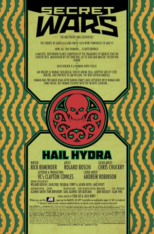 HAIL HYDRA #1 review spoilers title page