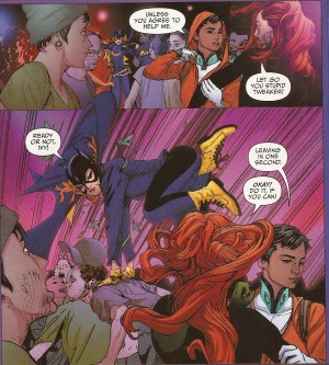 JUSTICE LEAGUE UNITED #11 pg. 8 panels 5-6