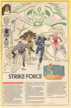 Who's Who DC Comics Strikeforce Kobra