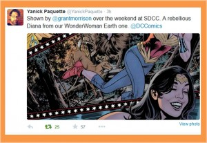 Wonder Woman Earth One by Grant Morrison and Yanick Paquette 2015 twitter