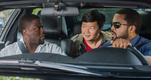 (Left to Right) Kevin Hart, Ken Jeong, and Ice Cube