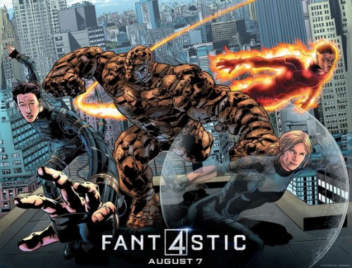 Fantastic Four 2015 poster comic book style