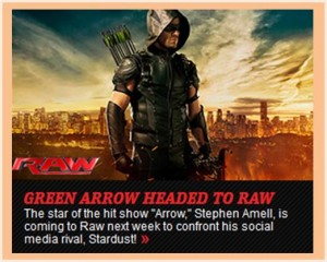 Green Arrow headed to WWE RAW wwe dot com