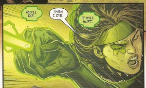 JUSTICE LEAGUE #44 Power Ring lets loose