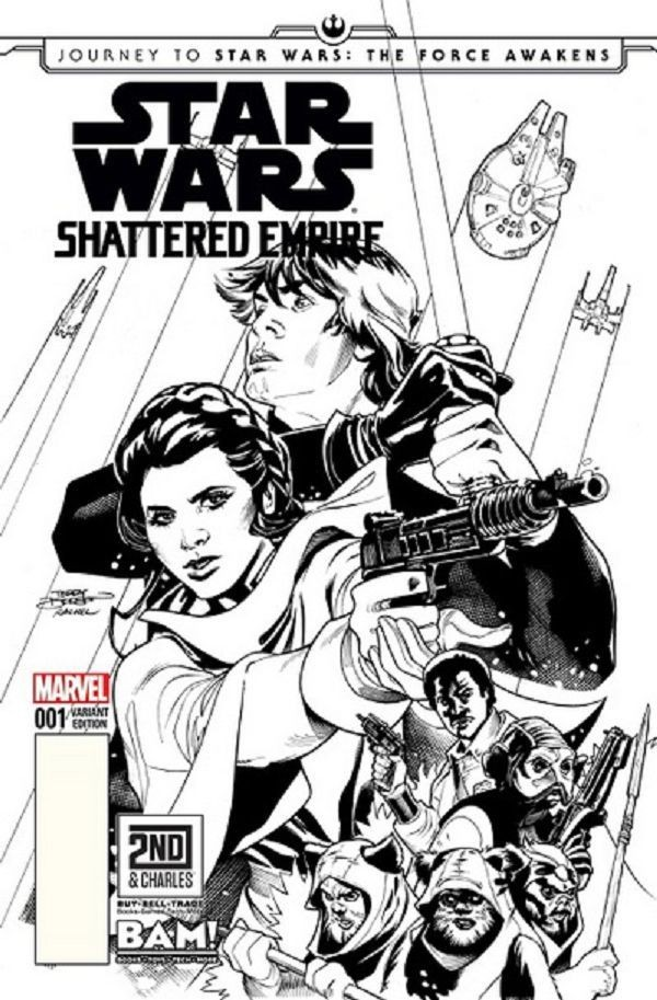 Comic Book Cover Black And White : Star wars marvel comics review spoilers journey to