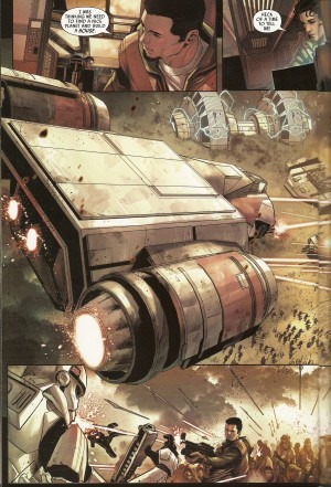 STAR WARS - SHATTERED EMPIRE #1 attack on Imperial base spread 1