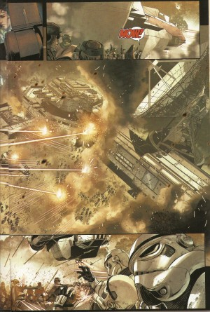 STAR WARS - SHATTERED EMPIRE #1 attack on Imperial base spread 2