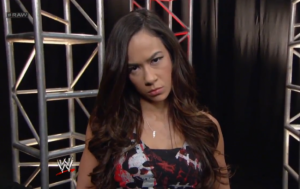 aj lee not happy