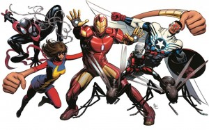 All-New All-Different Marvel Comics banner ANAD Avengers